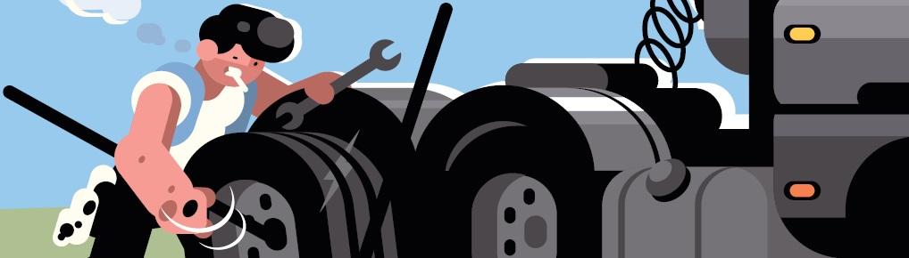 Pojazd i towar w rękach kierowcy